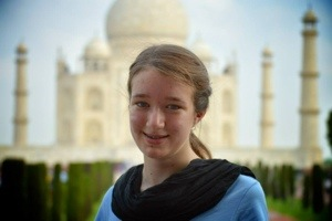 Myself at the Taj Mahal