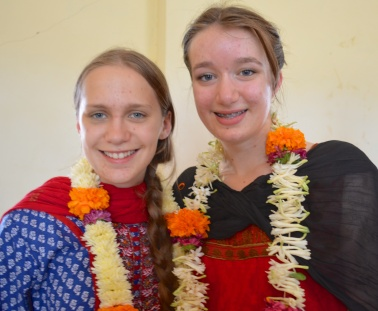 Fresh Flower Leis presented to us at Udamarry