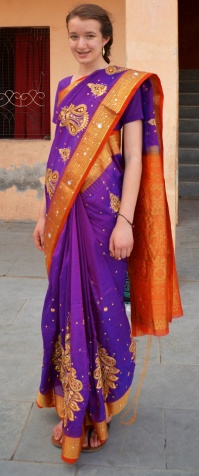 Myself dressed in an Indian Saree