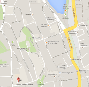 Location of my new school in Flensburg
