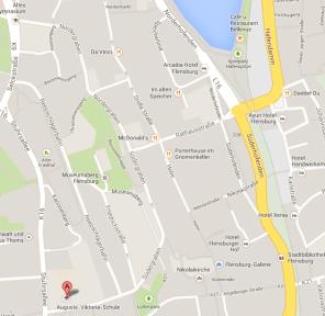 Location of my new school in Flensburg