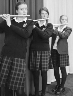 Maddie with Flute in NZ