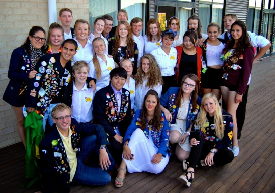 An international group of both inbound and outbound exchange students at last years 2nd orientation.