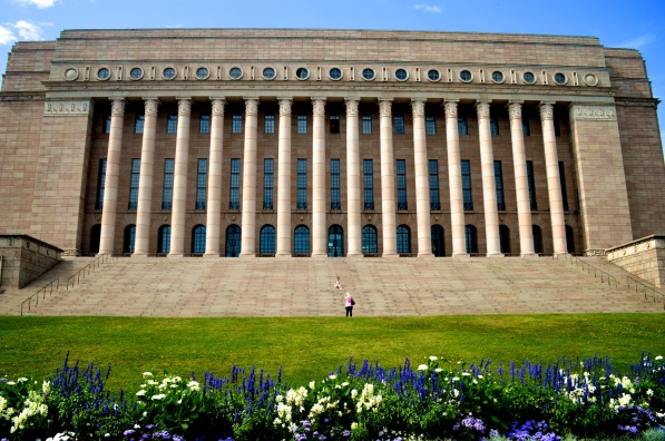 The Finnish Parliament building